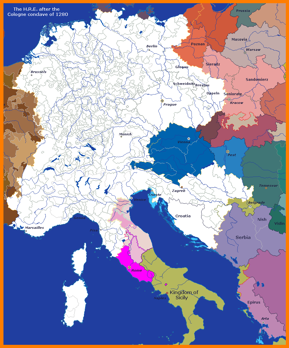 1280 Holy Roman Empire after the Cologne conclave.png