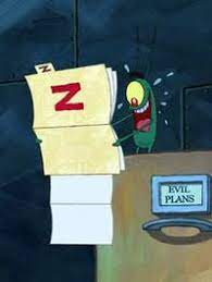 """Ben Hall på Twitter: """"Why was Plankton so surprised by plan Z? He literally  says in the same scene he writes his own plans. It's the biggest, most  important movie plot hole"""