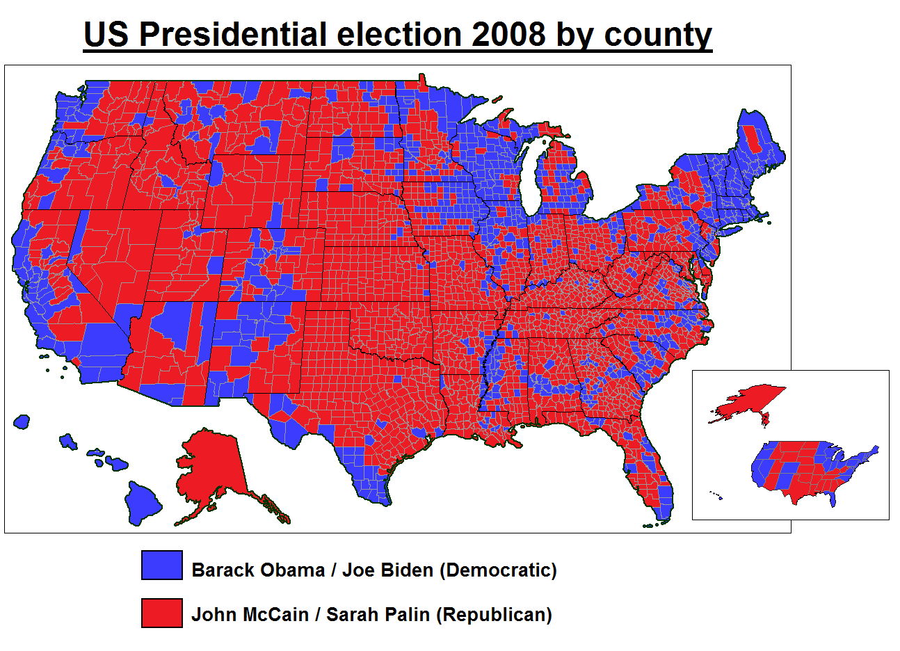 Printable Map of 2008 Presidential Election Results  Presidential Voting Map 2008