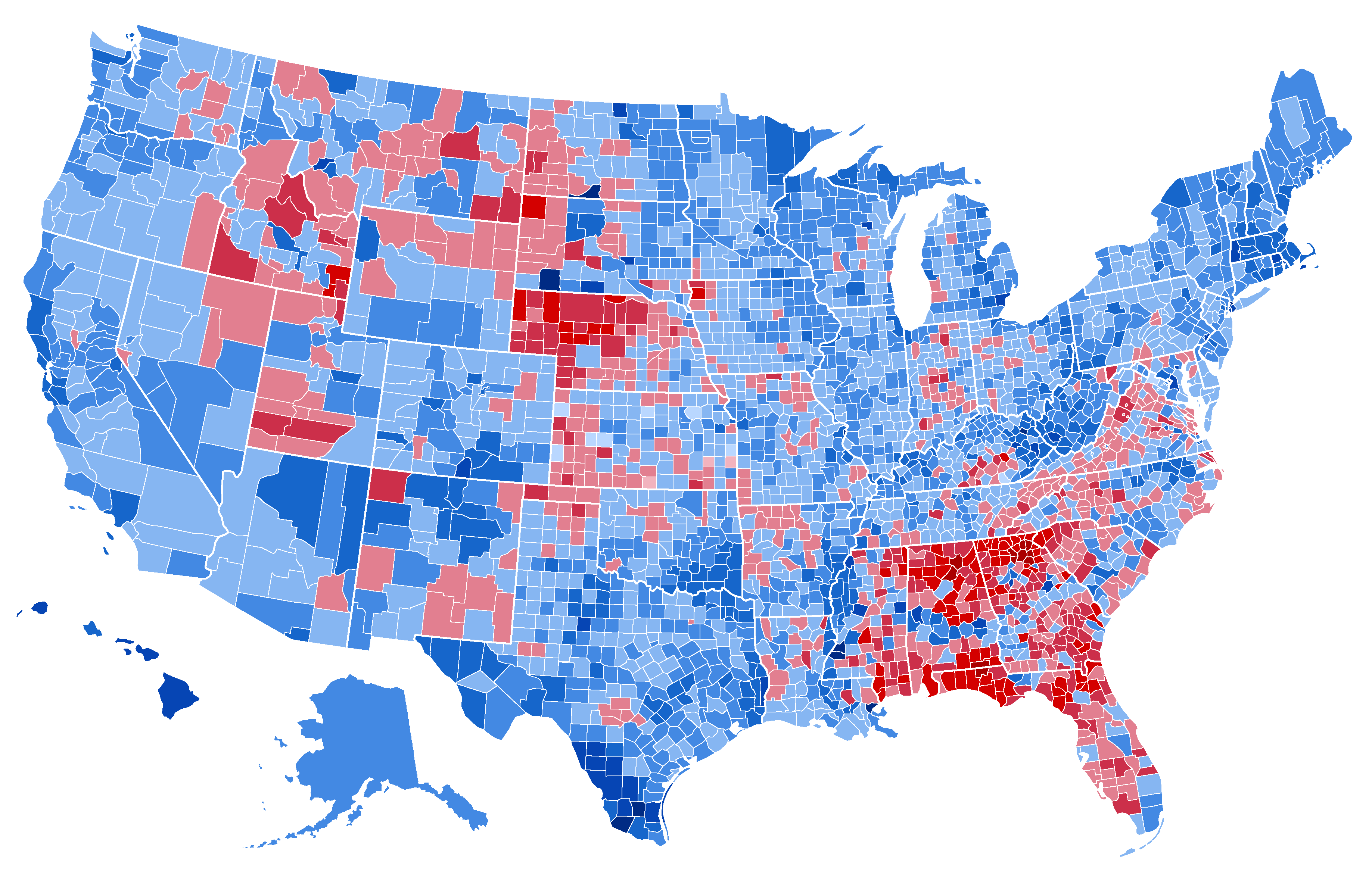 2016 Election Results by County (Arkana Template).png