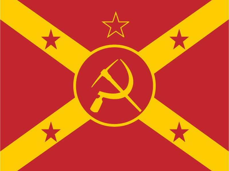 Communist Confederacy Flag V1 Suggestions And Input Alternate
