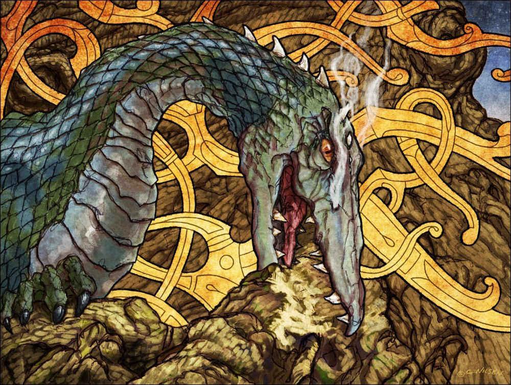 nidhogg dragon norse - 1000×753