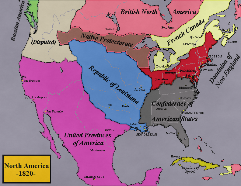 Map Of America 1820.Map Thread X Page 136 Alternate History Discussion