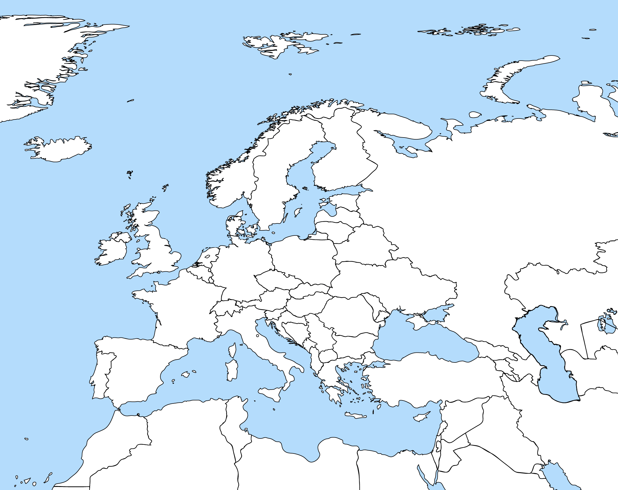 This is an image of Clean Europe Printable Map