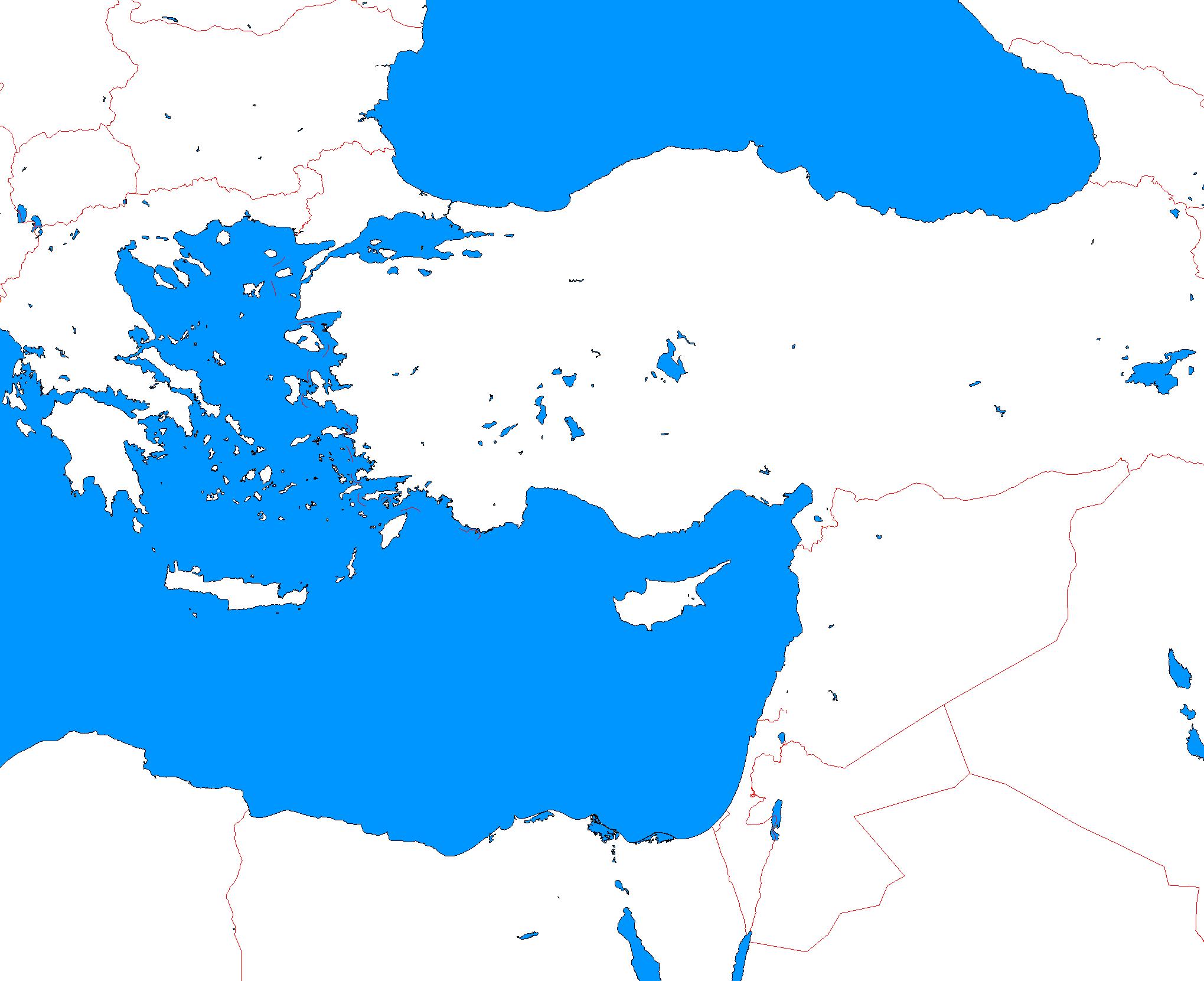 blank map of eastern mediterranean A Blank Map Thread Page 6 Alternatehistory Com blank map of eastern mediterranean