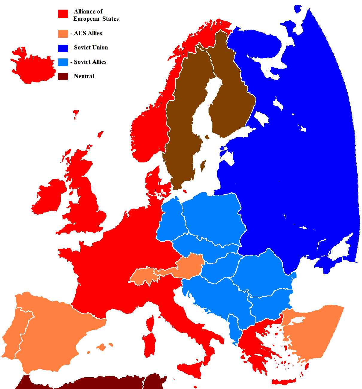 Cold War In Europe Map.Cold War Map Challenge Alternate History Discussion