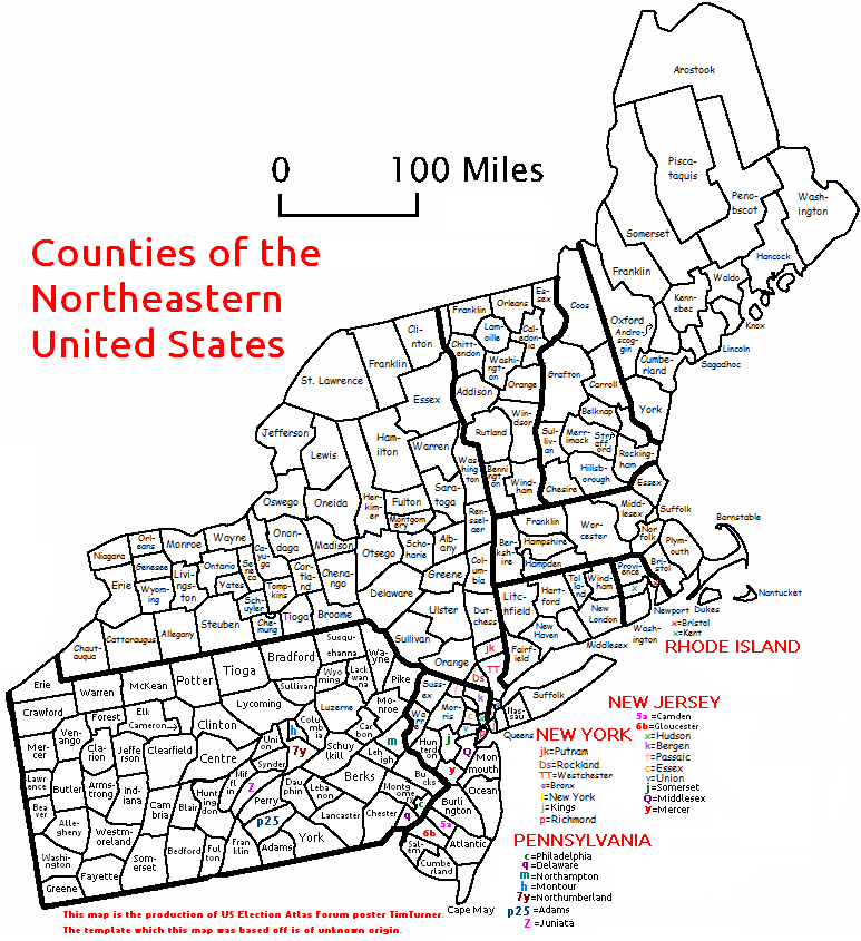 I Made A County Map Alternate History Discussion - East us map with county