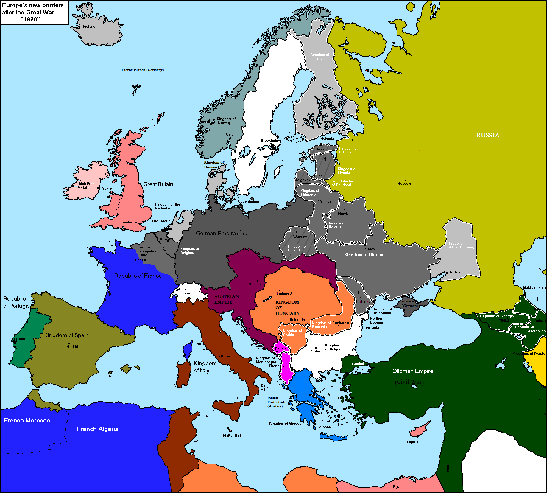 Alternate Ww1 Map Thread Alternate History Discussion