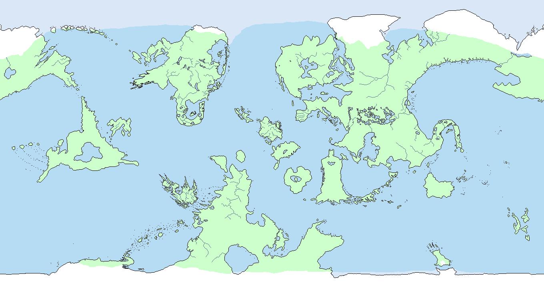 blank fantasy world map