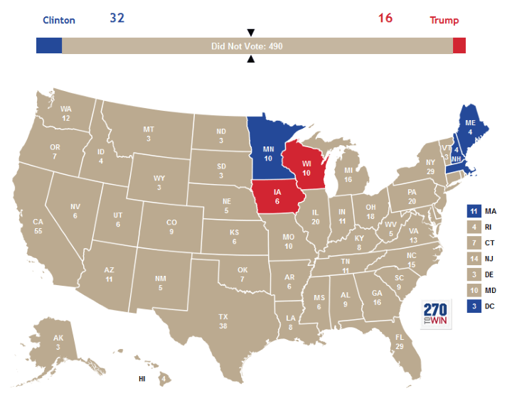 US Election Vocabulary Electoral College Battleground States - Us election history map