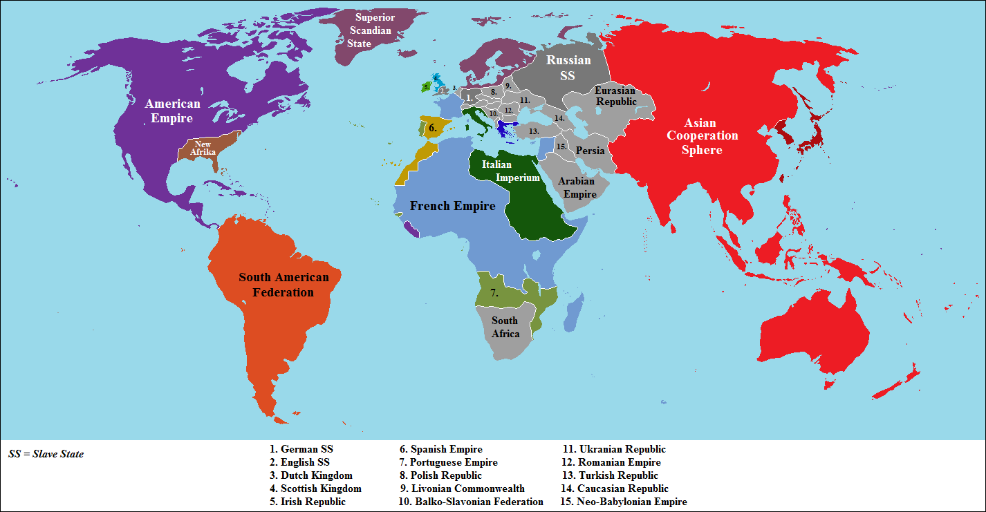 Map Thread V Page Alternate History Discussion - Dystopian us map