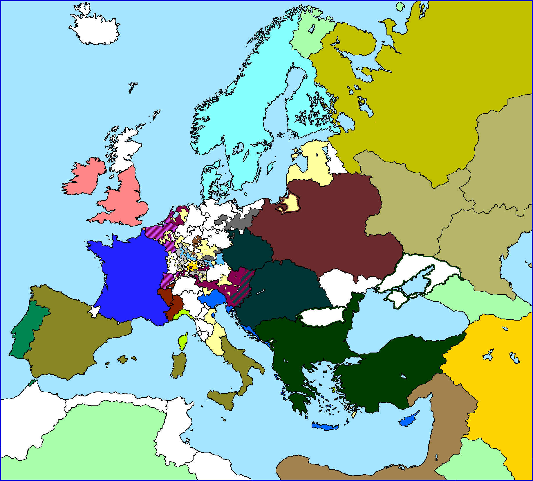 The NEW Our TimeLine Maps Thread Page Alternate History - Blank world map 1500