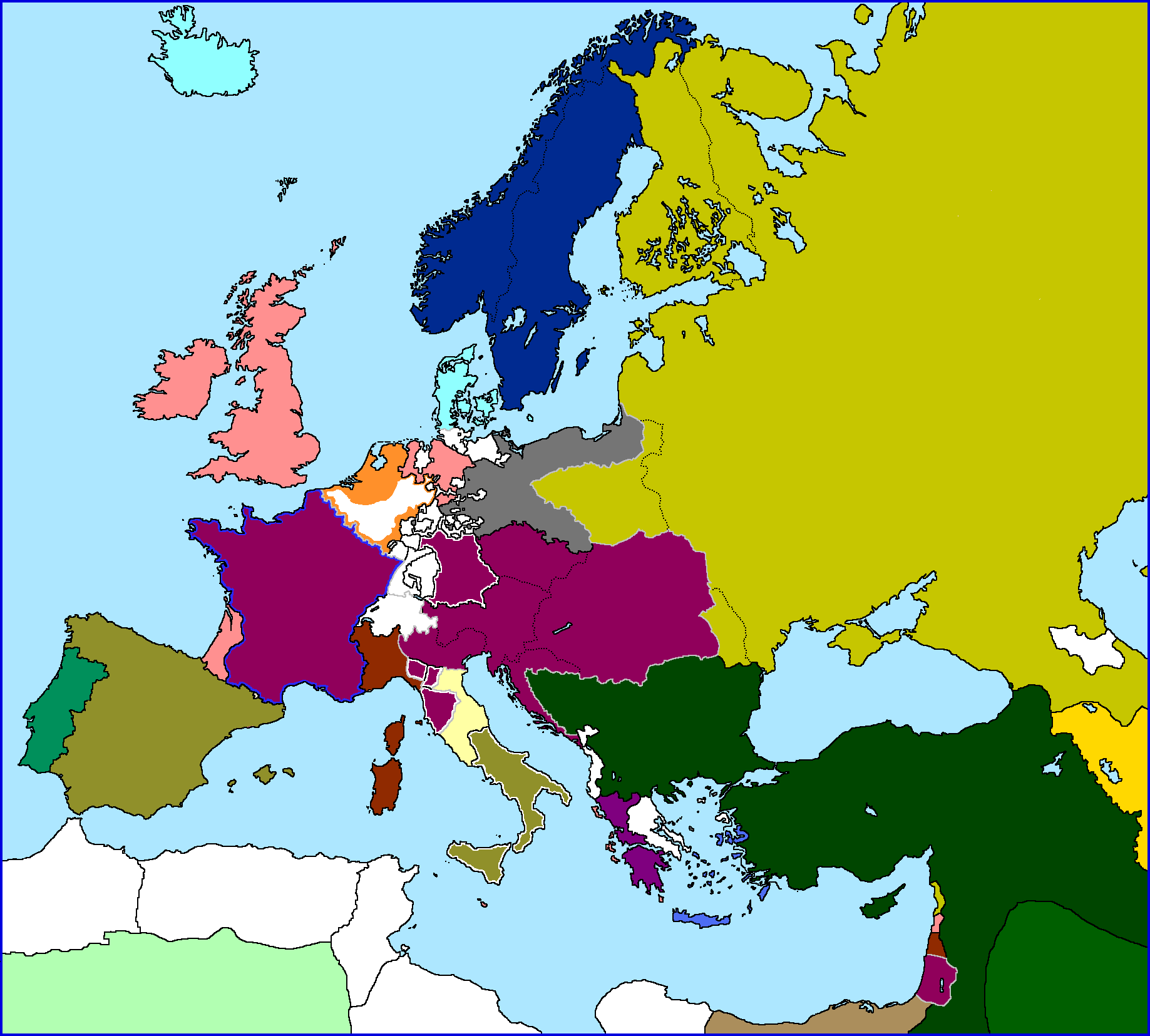 Map Of Europe 1840.Map Thread Iii Page 292 Alternate History Discussion