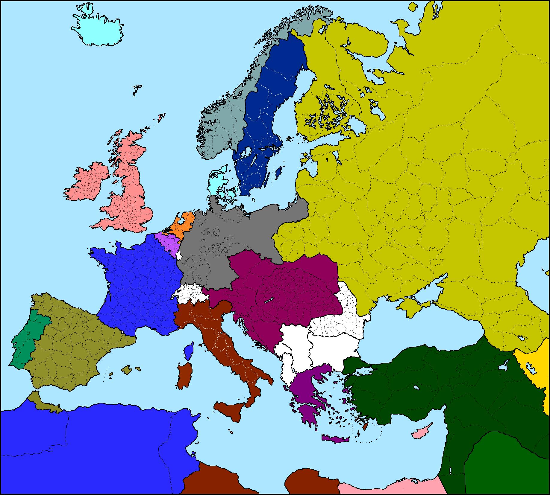 Map Europe 1913 Casami