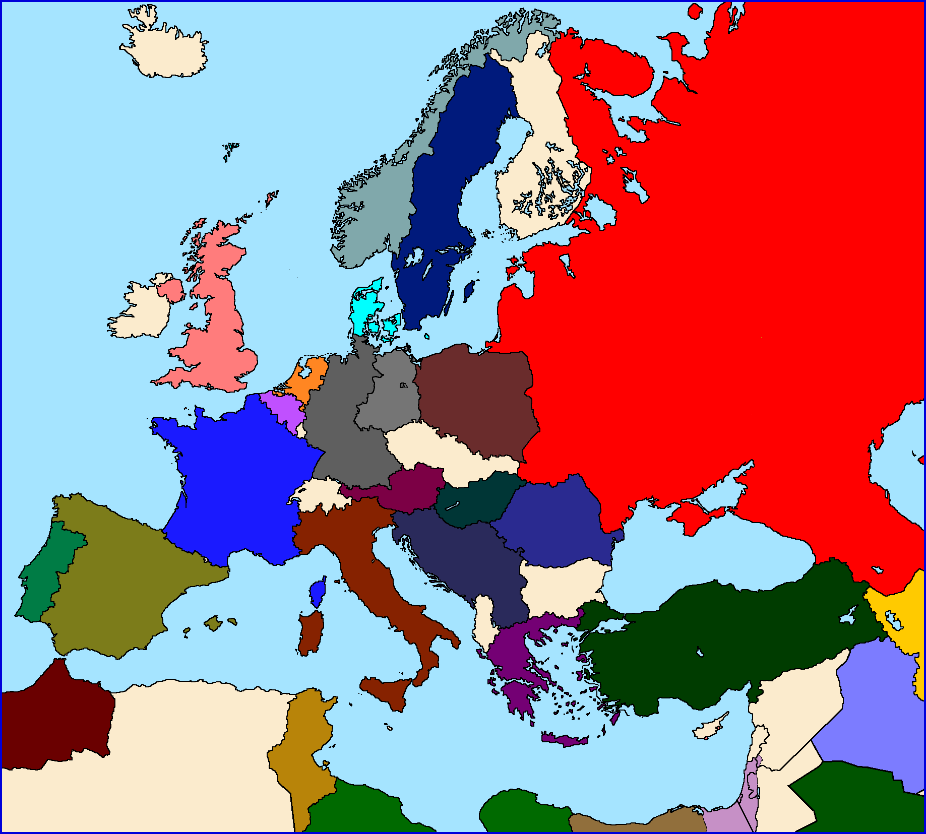 OTL Standard Maps Of Europe Page Alternate History Discussion - Central europe map 1945