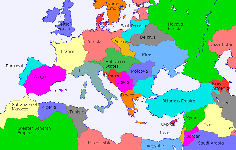 Europe If Countries Had Take Different Borders Alternate History