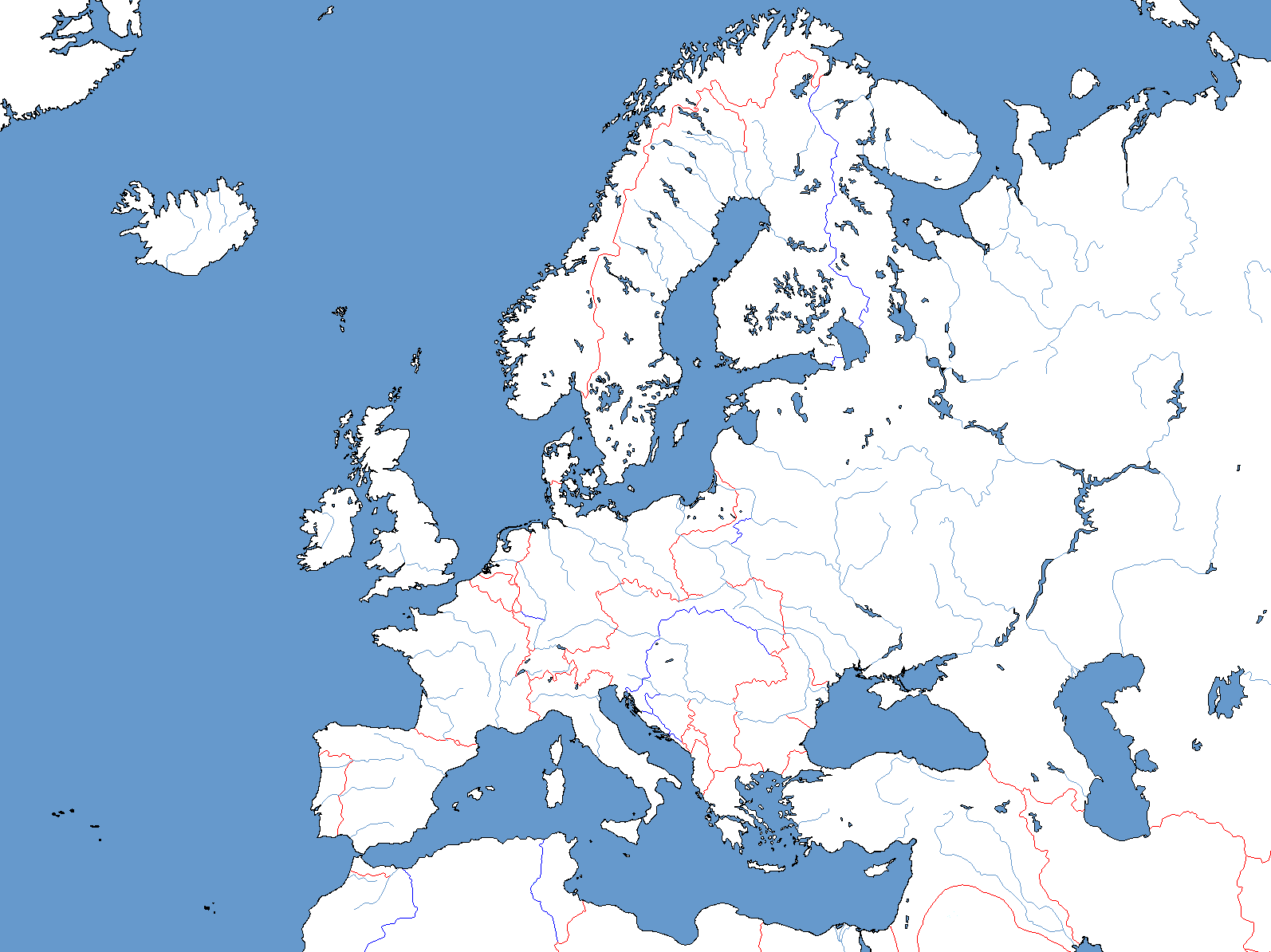 Blank Map Of Europe With Borders.A Blank Map Thread Page 128 Alternate History Discussion