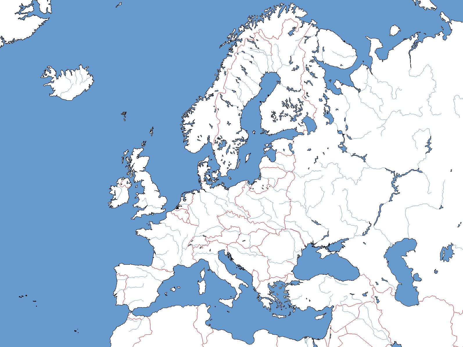 Map Europe 1930 Casami