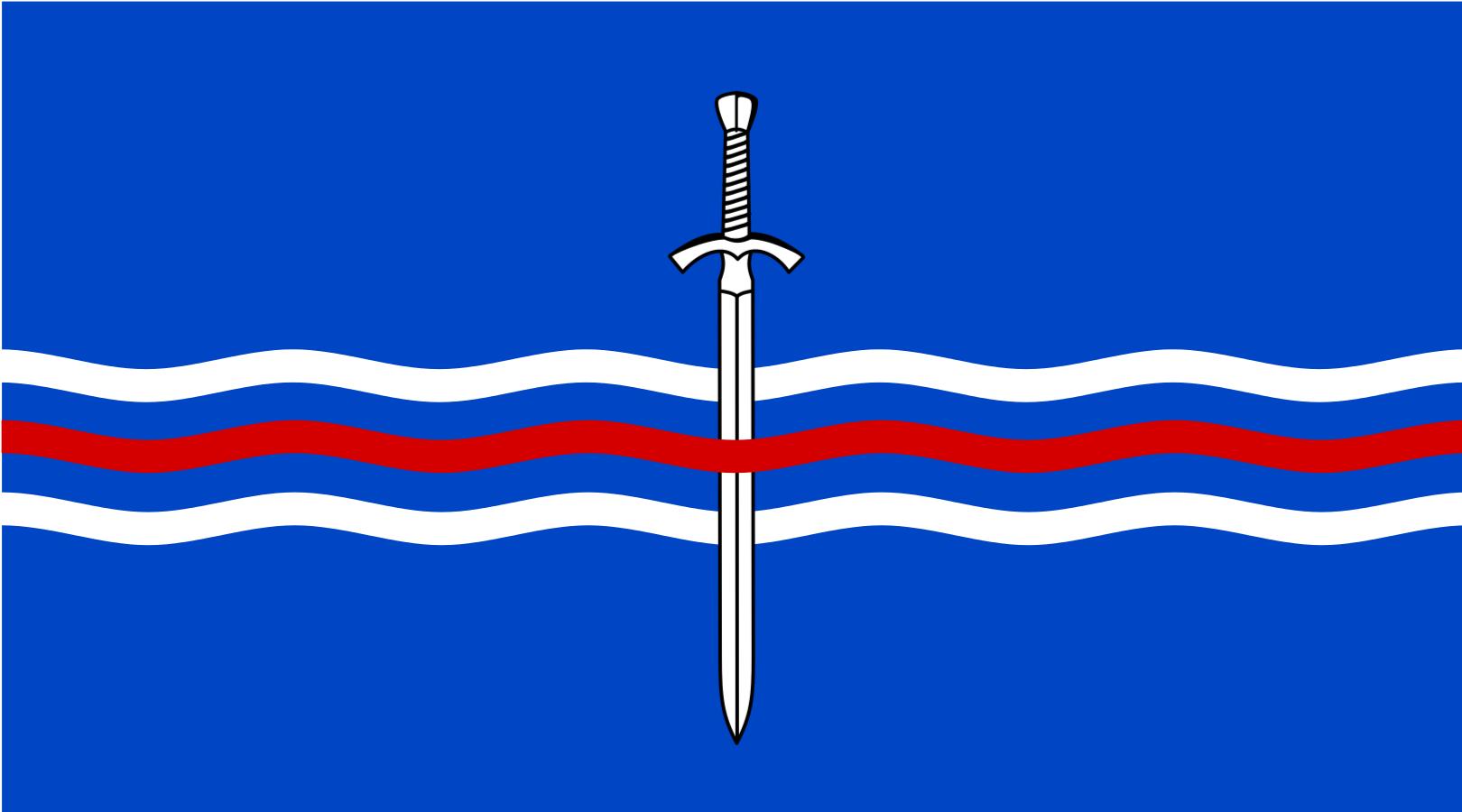 The Flag of the Sambandsríki Tælmörk (Telamon)