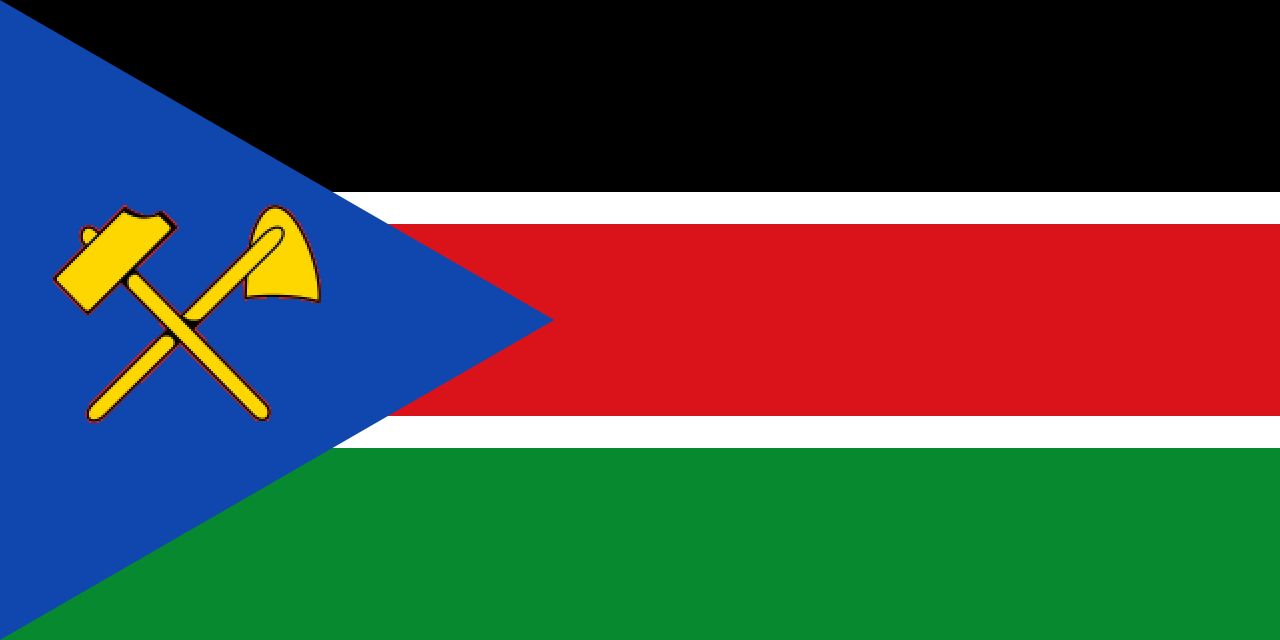 Flag of Social Republic of South Sudan (2019-Present) and African Peoples Liberation Army-Sout...png