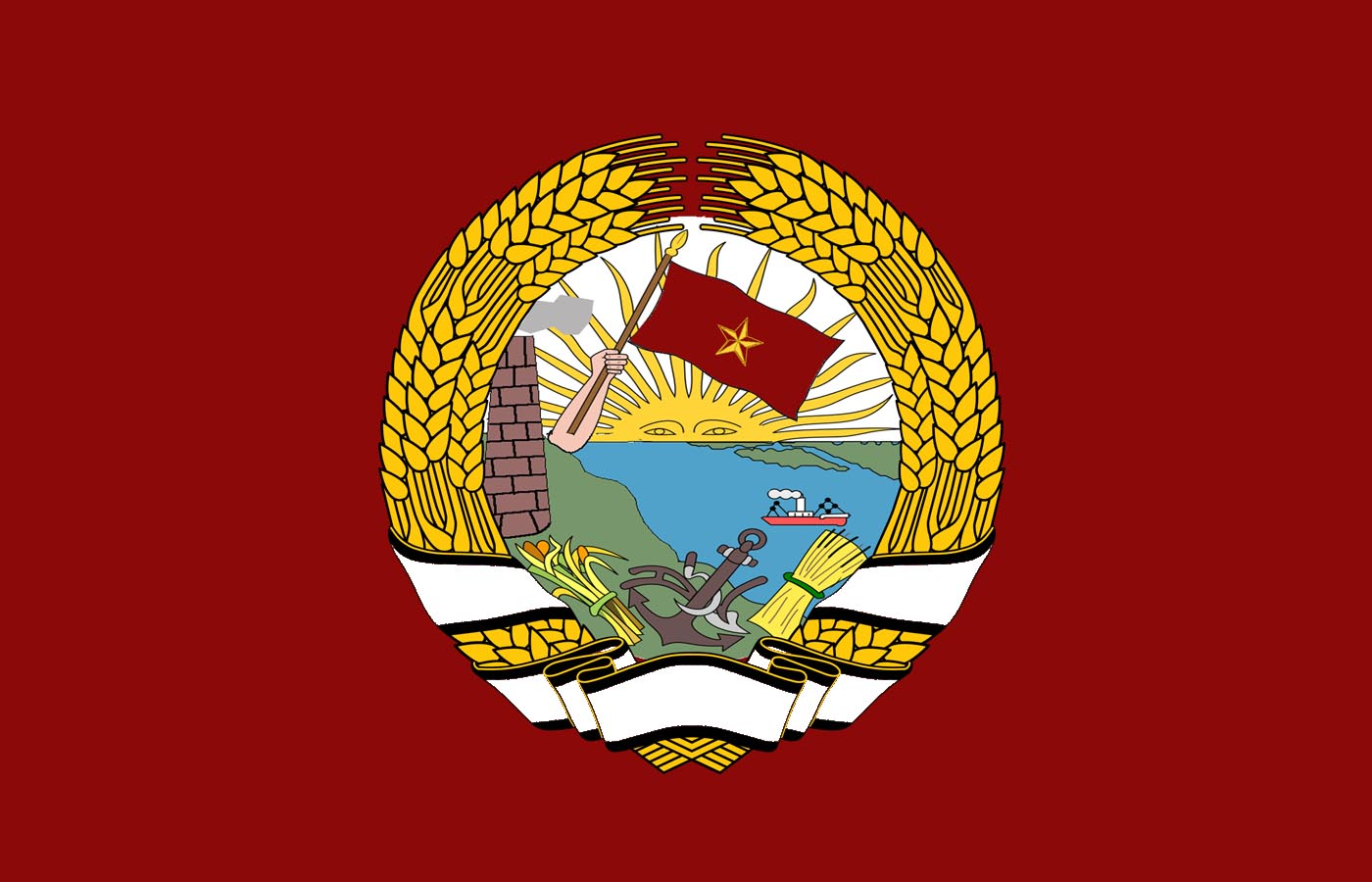 Flag of the Socialist Federative Republic of  Sudamerica (1945-1967)[under alt!Tito].jpg