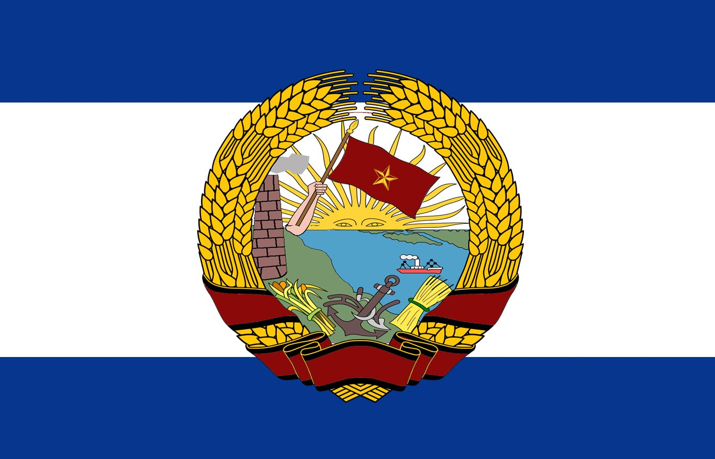 Flag of the Socialist Federative Republic of Sudamerica (1967-1996)[argentine leadership].jpg
