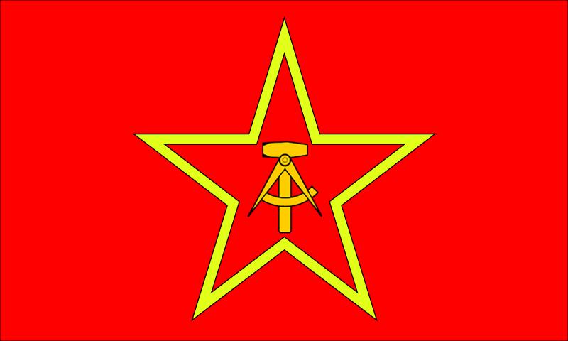 Communist german flag