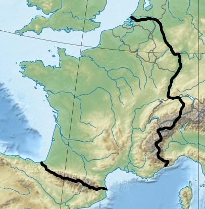 Borders Of France Map.Ah Map C Natural Borders Of France Alternate History Discussion