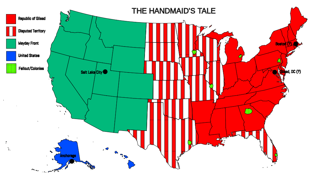 the handmaidens tale and 1984 Margaret attwood's the handmaid's tale or george orwell's 1894: both depict a  choked society under constant watch from a despotic regime.