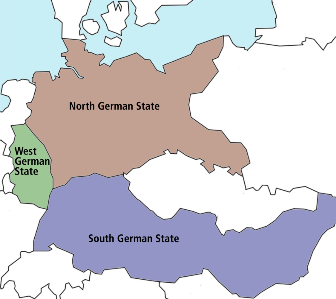 Map Of Germany Divided.Post War Germany Divided Between North And South Alternate History