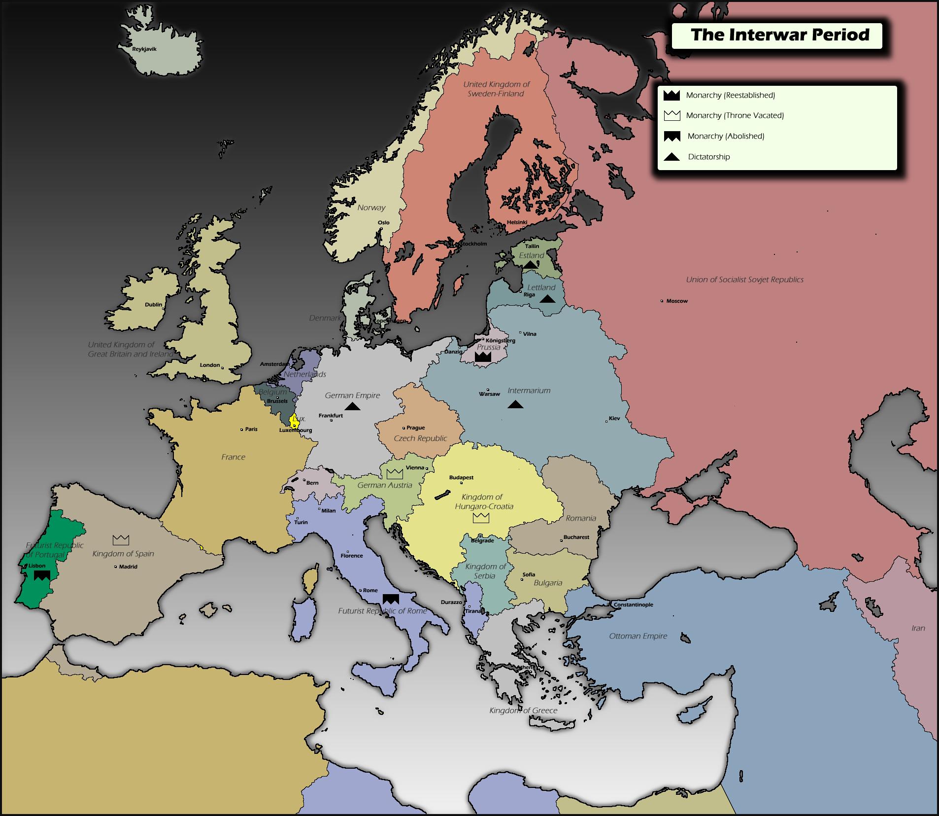 Interwar Europe Map.Interwar Map Challenge Alternate History Discussion