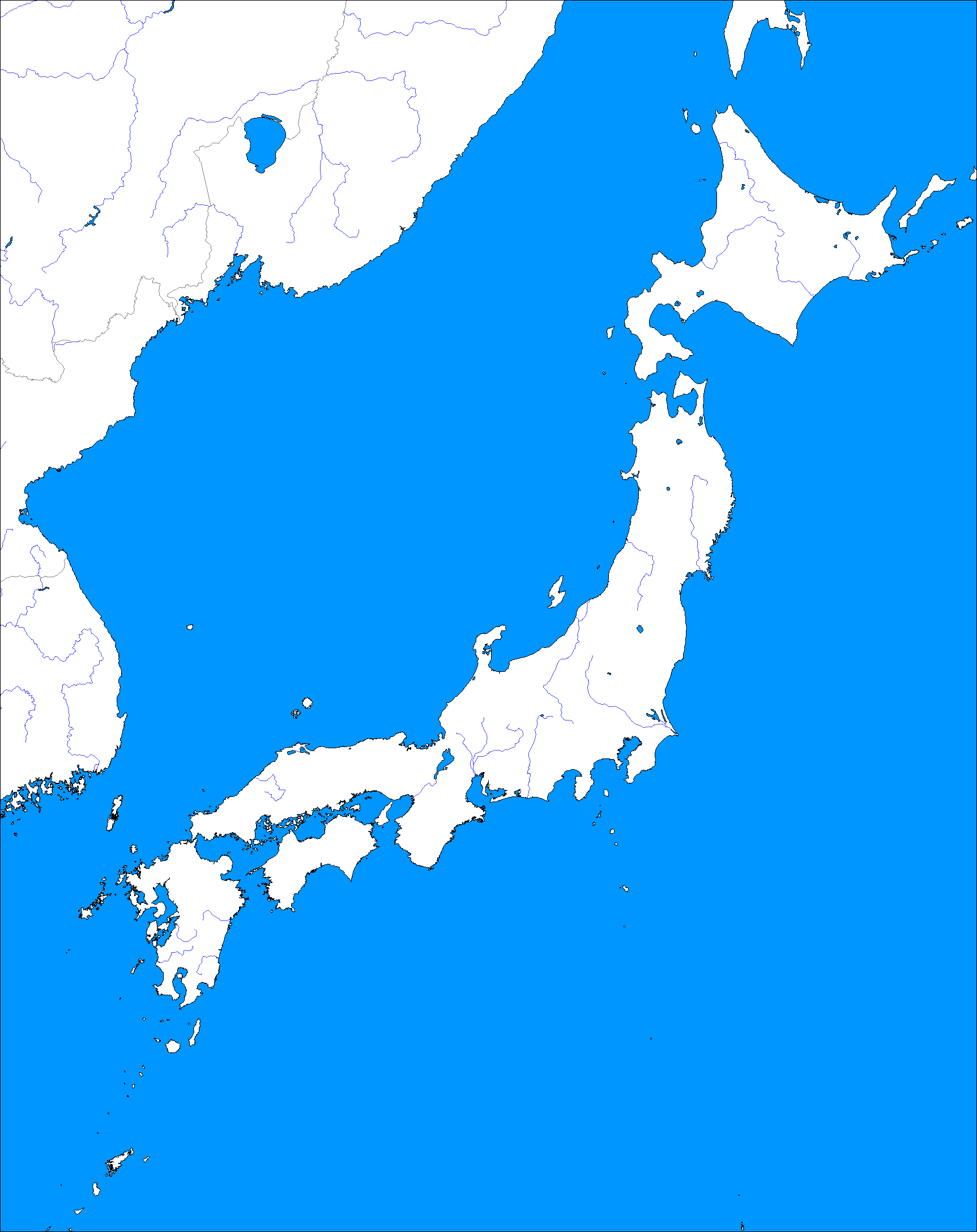 A Blank Map Thread Alternate History Discussion - Japan map blank outline
