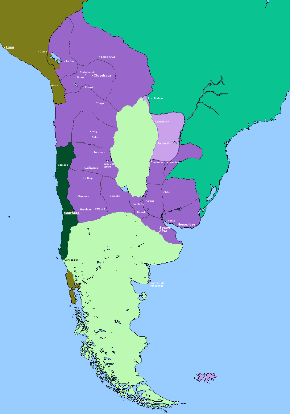 Labeled 1814 with provinces.png