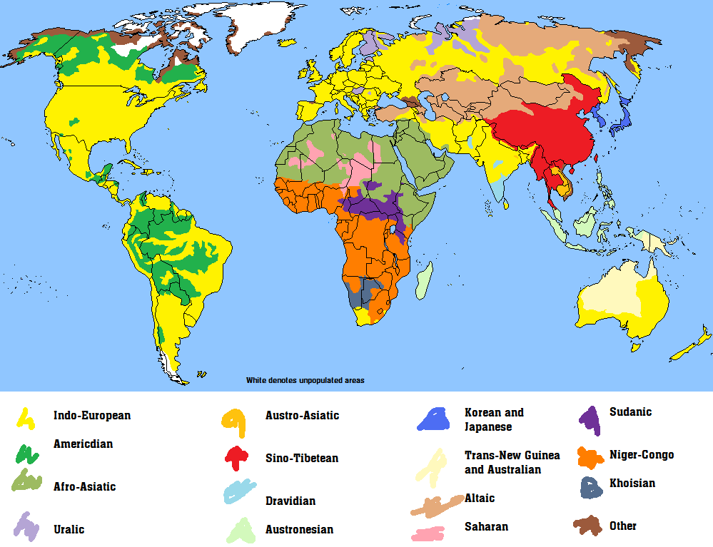 Linguistic Maps Alternate History Discussion - Linguistic map of the world