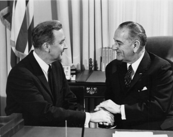 LBJ and McCarthy  Oval Office, cropped.jpg