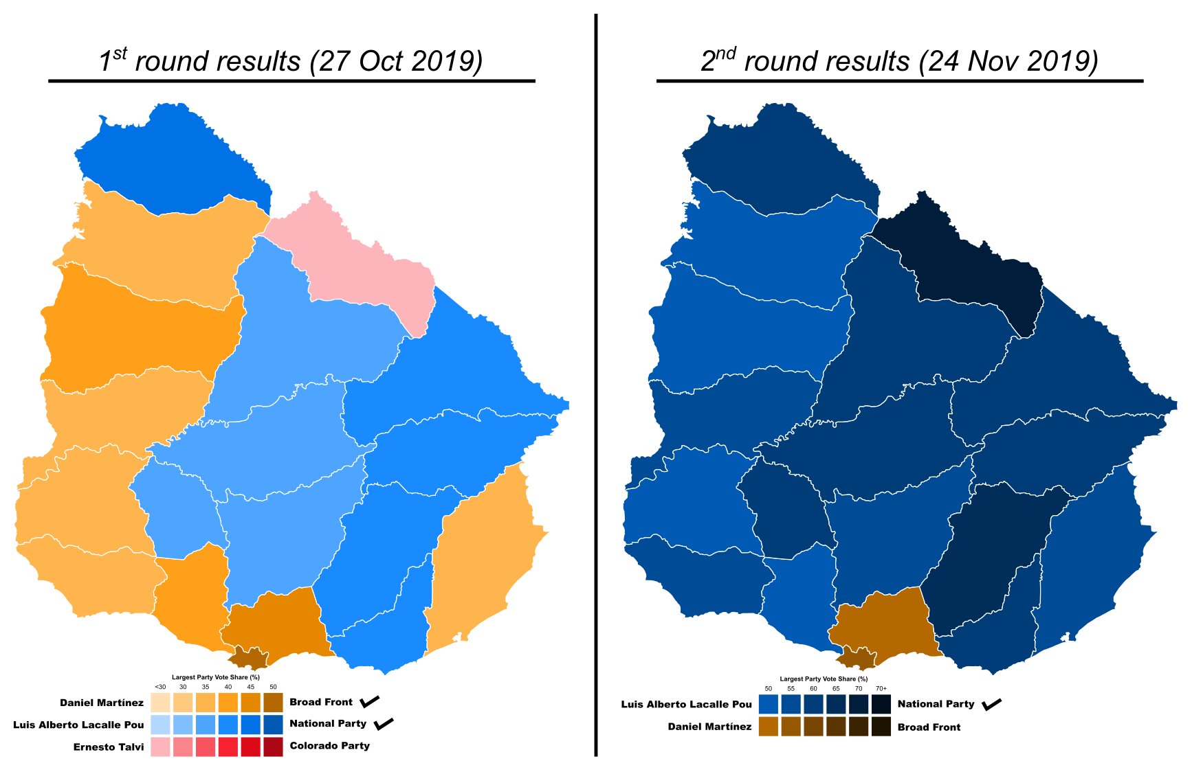 Map of 2019 Uruguayan general election (Presidential).png