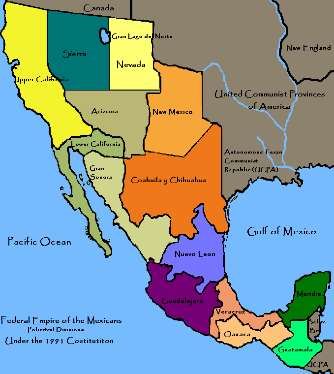 Mexico in the map