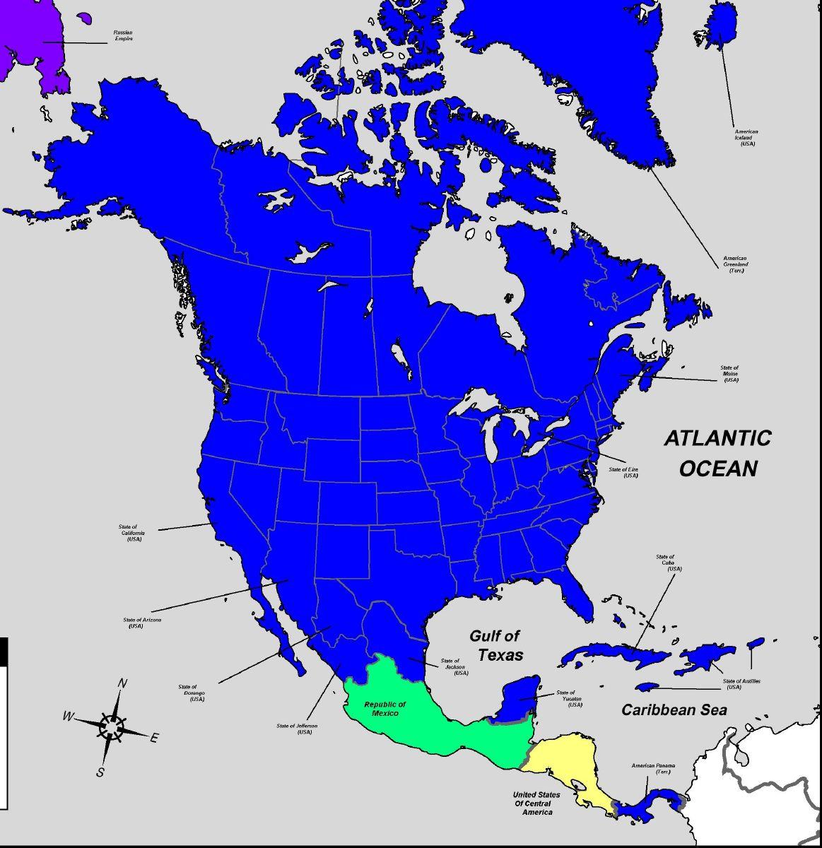 17751875 Alternate North America Map  Alternate History Discussion