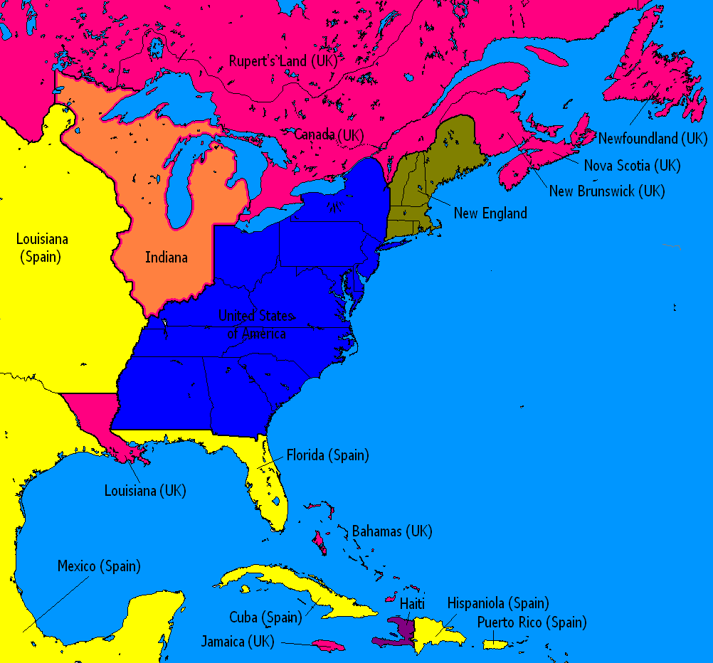 Map Of America In 1812.Canada Uk Decisively Wins The War Of 1812 Alternate History Discussion
