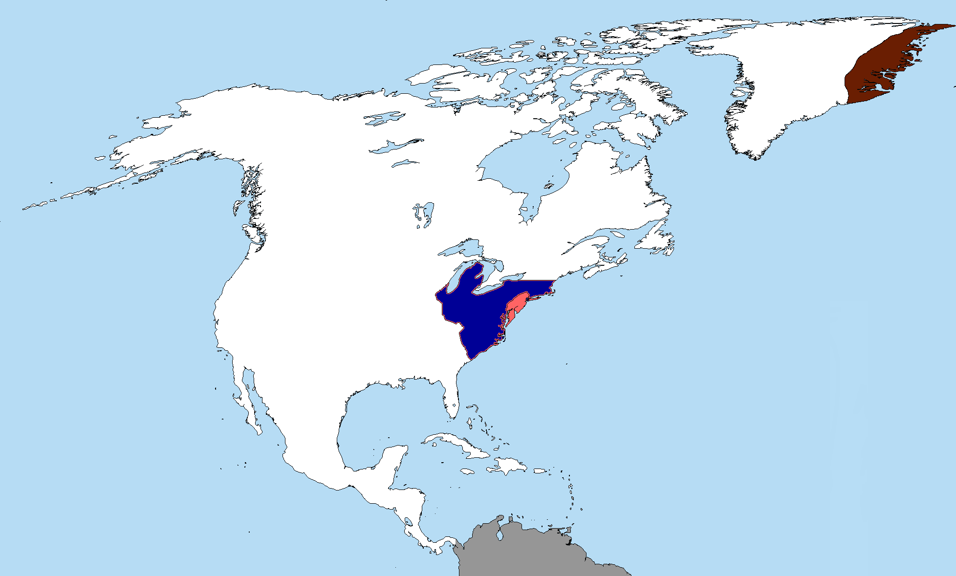 Map Continuation Xiii Z New Europe North America