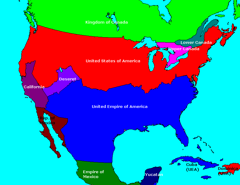 North American Map Challenge Alternate History Discussion