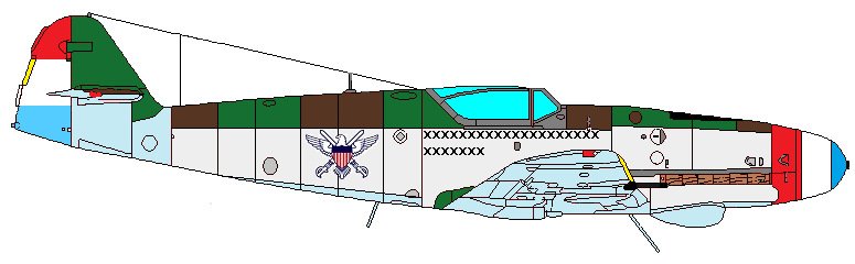 North American Aeronautics F13 -- Me-109K-8.png