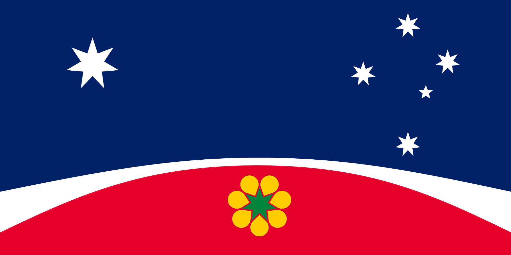 proposed Australia flag based off ausflag 1993 design.png