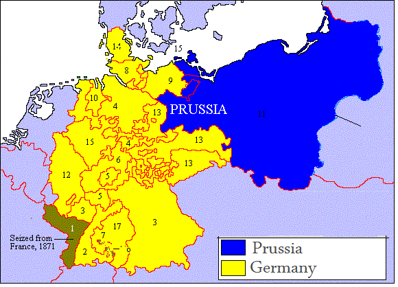 a history of germany in period of prussia A summary of german unification (1850-1871) in  to central germany prussia also controlled the  greatest revolutions in the history of.