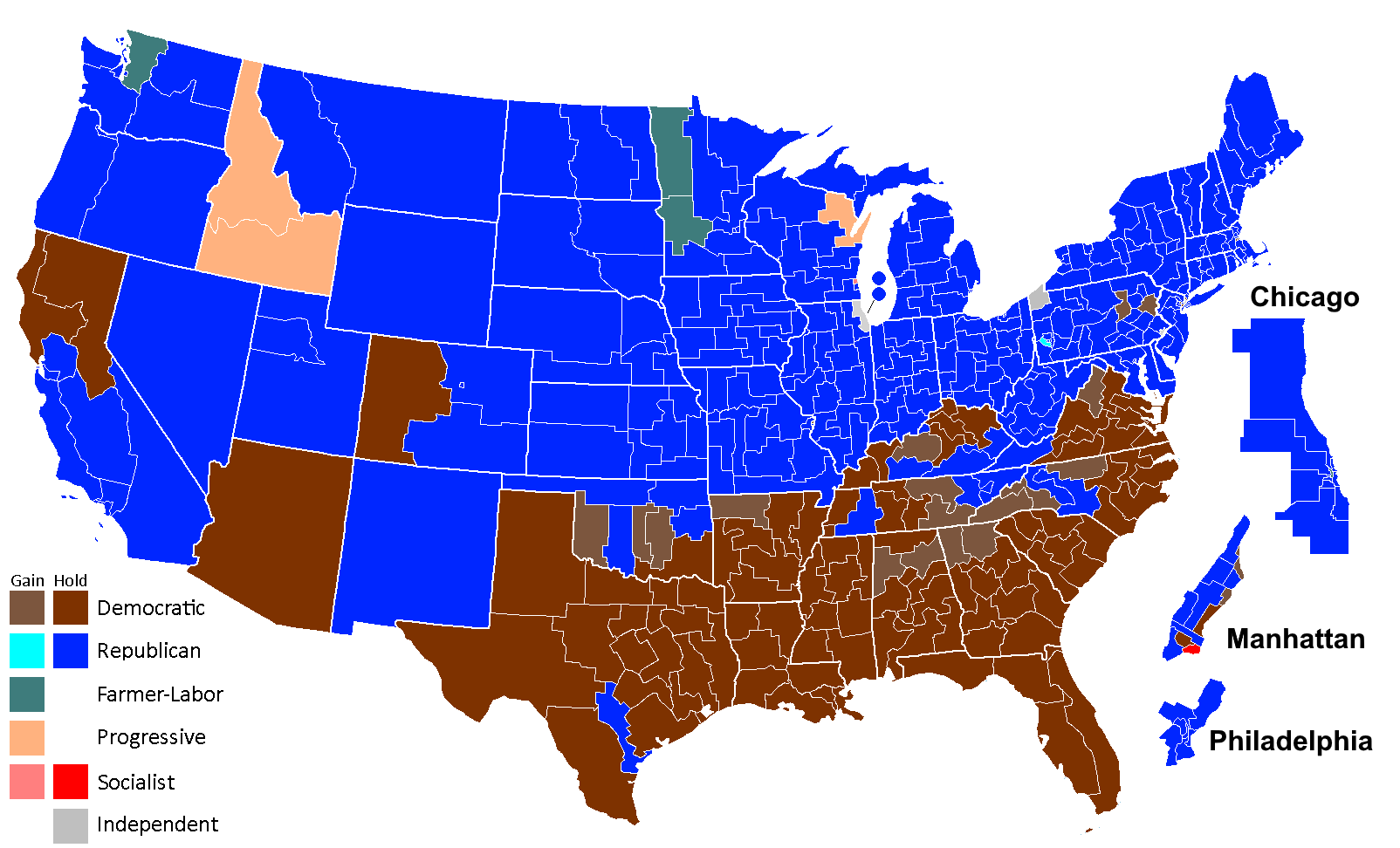 Ruins of An American Party system 1922 House election map.png