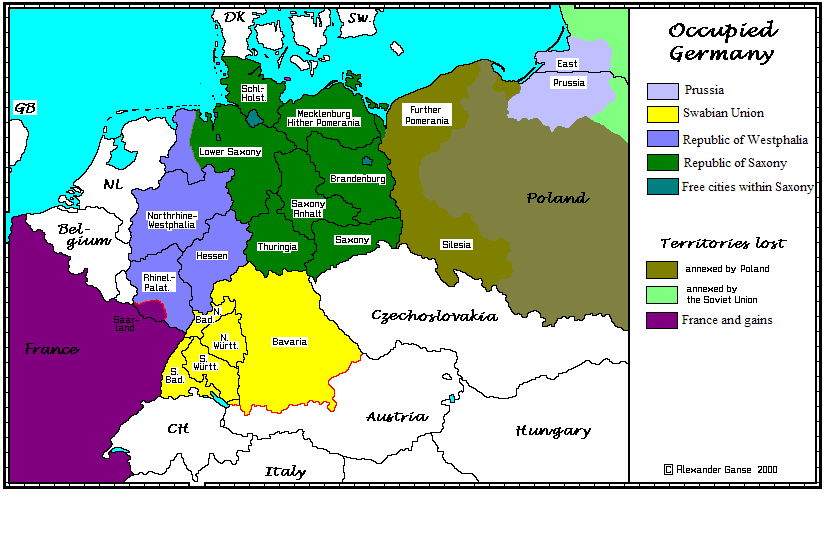 Partitioning germany after world war ii page 2 alternate history i like this for a peace settlement although ideally id make saxony a kingdom and unite westphalia with the low countries to form a rhenish union gumiabroncs Images