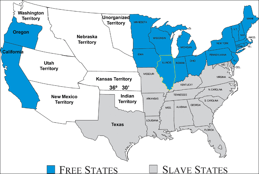 DBWI The Border States Stayed Loyal To The Union Alternate - Union confederate us territories and border states map