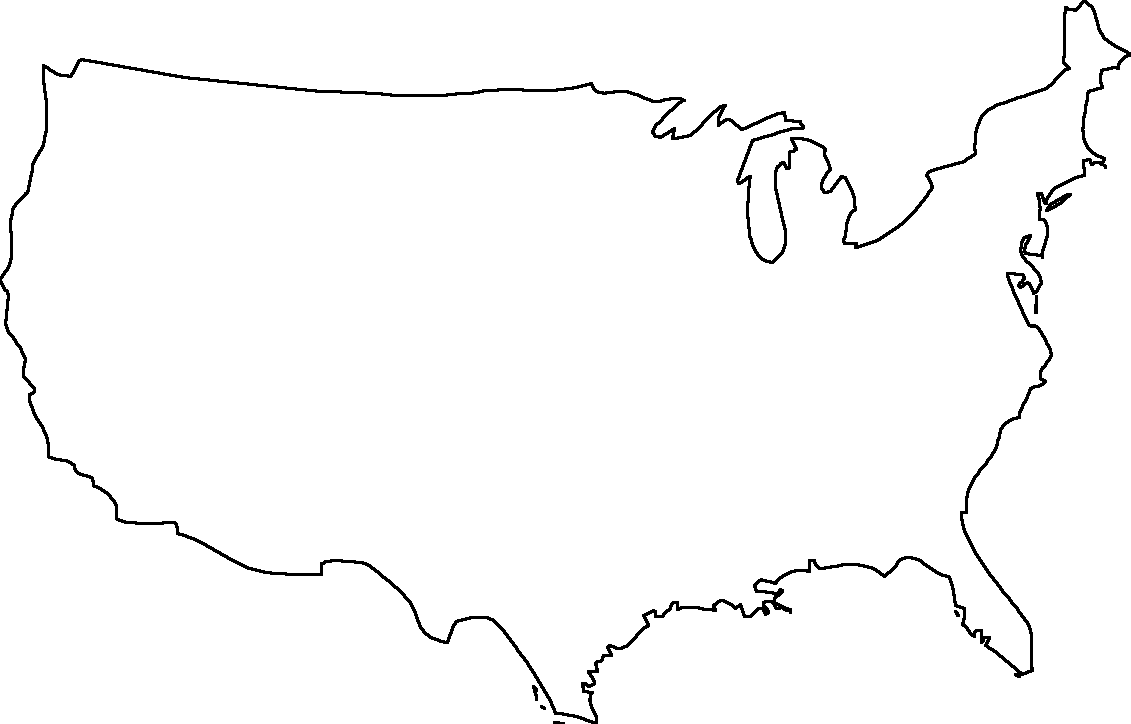 A Blank Map Thread Page Alternate History Discussion - Map of usa outline only