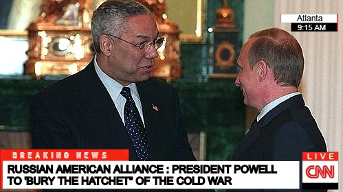President Putin with his Russian counterpart, Vladimir Putin, in 2004