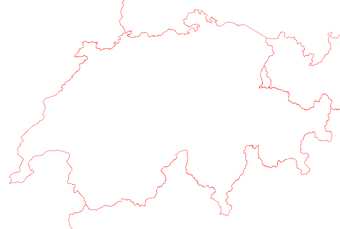 blank map of switzerland